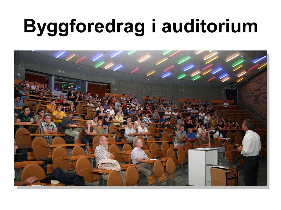 Byggforedrag i auditorium