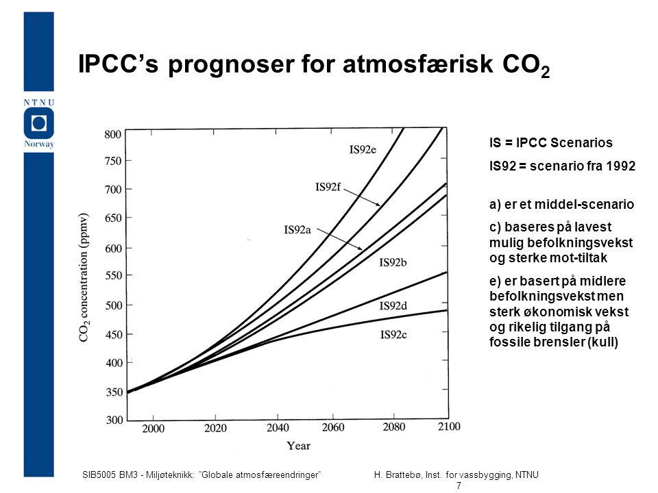 SIB5005 BM3 - Miljøteknikk: Globale atmosfæreendringer H.