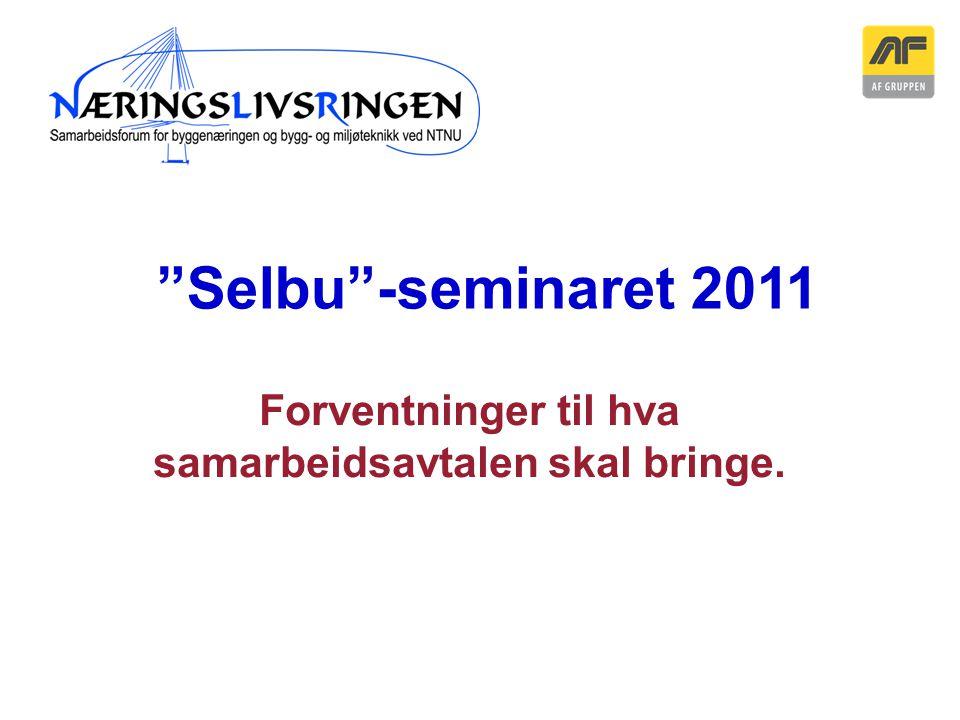 """Sogn Arena Forventninger til hva samarbeidsavtalen skal bringe. """"Selbu""""-seminaret 2011"""