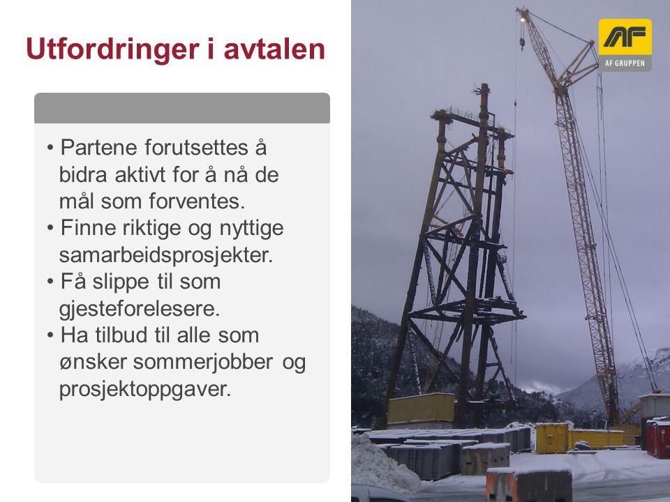 Sogn Arena Kolonnetittel Utfordringer i avtalen Partene forutsettes å bidra aktivt for å nå de mål som forventes. Finne riktige og nyttige samarbeidsp