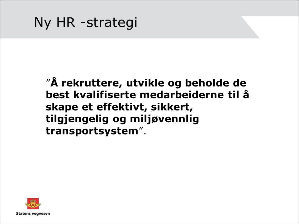 Ny HR -strategi Å rekruttere, utvikle og beholde de best kvalifiserte medarbeiderne til å skape et effektivt, sikkert, tilgjengelig og miljøvennlig transportsystem .