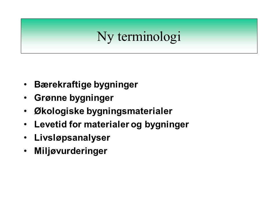 NKB 1995:07 - Miljøparametre Fremtidsaspekter Gjenvinning –avfallsminimering –ombruk –materialgjenvinning –energigjenvinning –deponering Mulige produktforbedringer