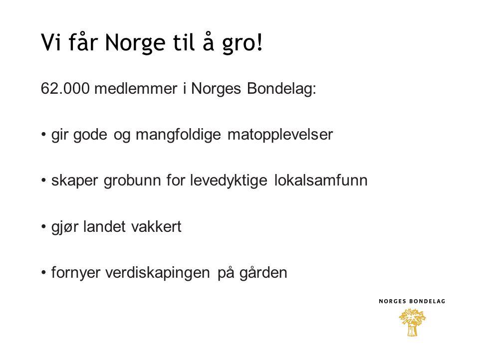 Vi får Norge til å gro.