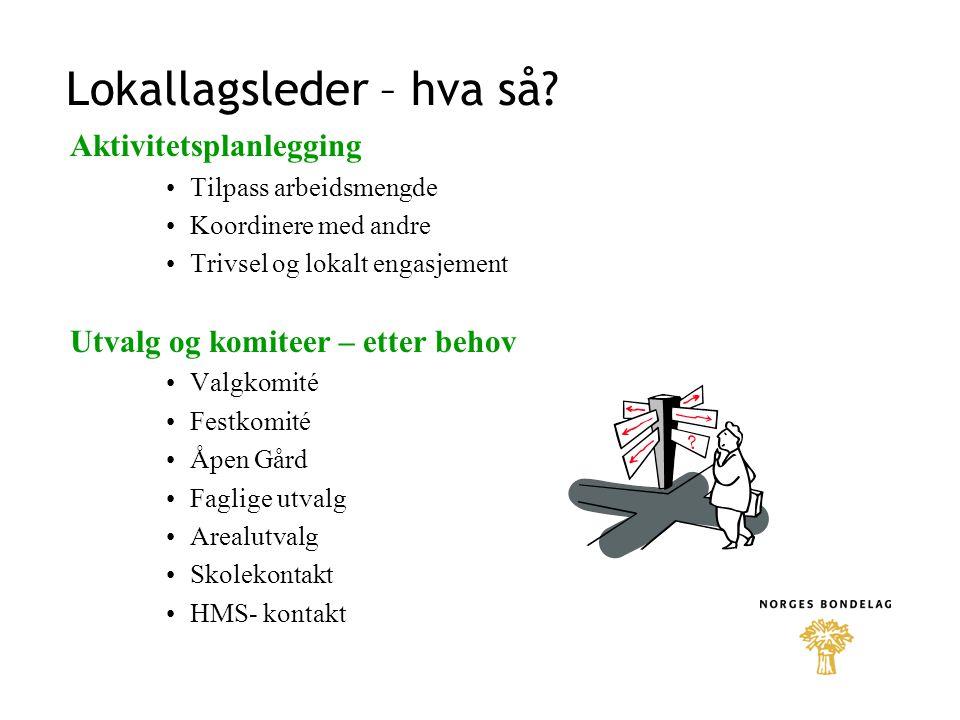 Årshjulet: September - desember Årsmøtet i lokallaget – innen midten av november.