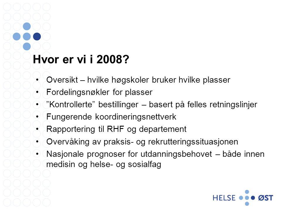 Hvor er vi i 2008.