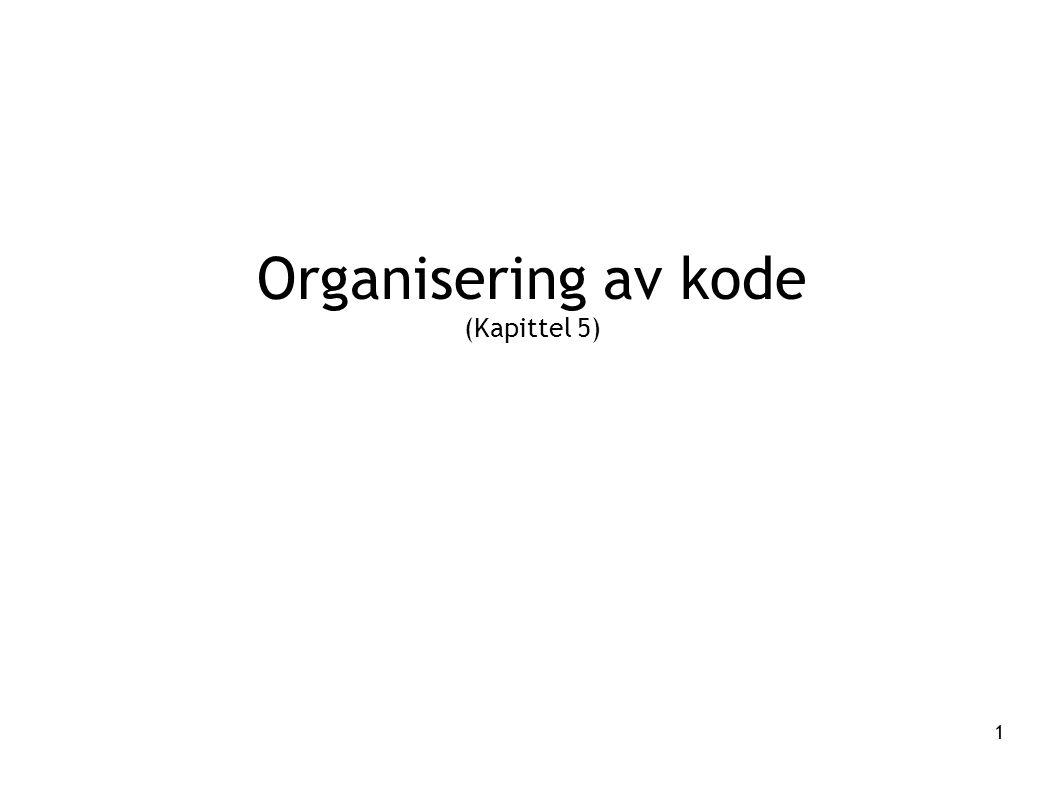 1 Organisering av kode (Kapittel 5)