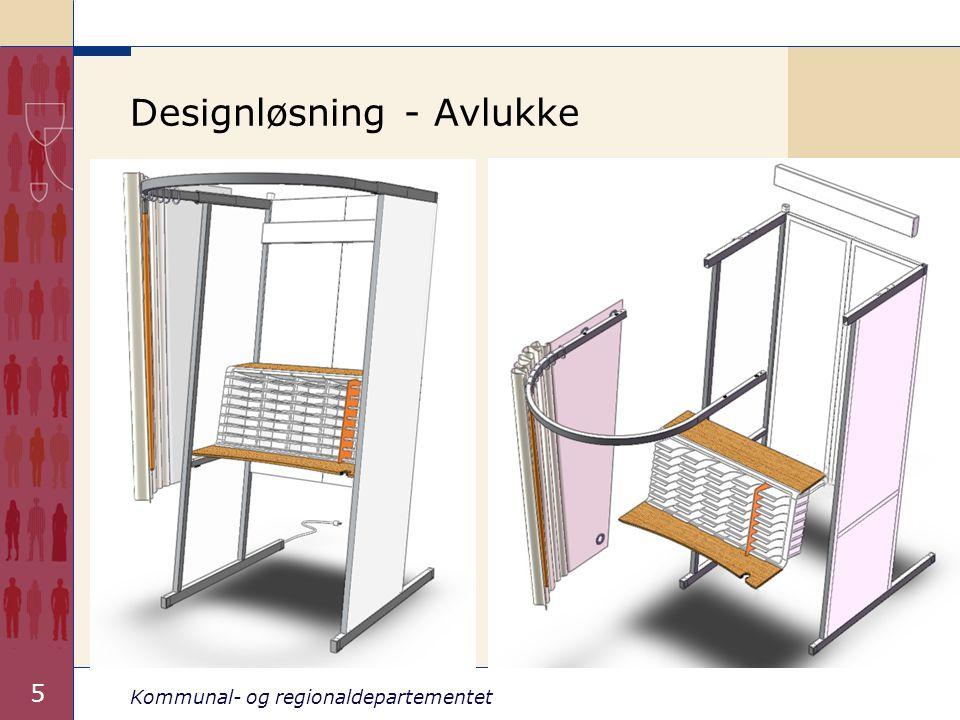 Kommunal- og regionaldepartementet 5 Designløsning - Avlukke