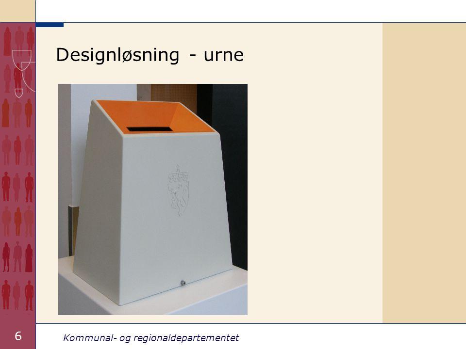 Kommunal- og regionaldepartementet 6 Designløsning - urne