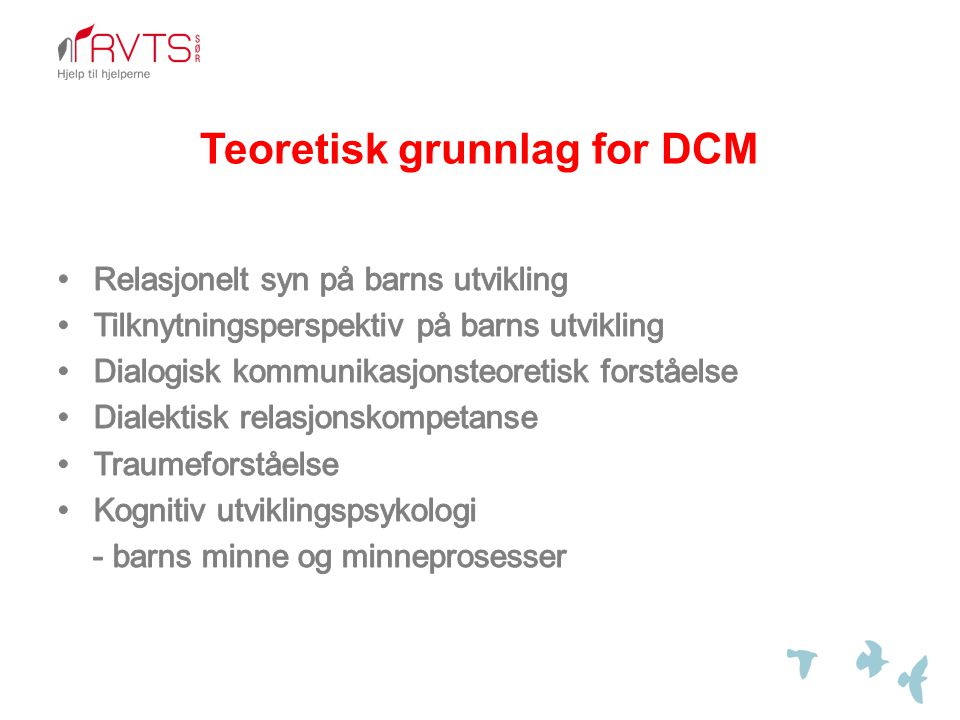 Teoretisk grunnlag for DCM