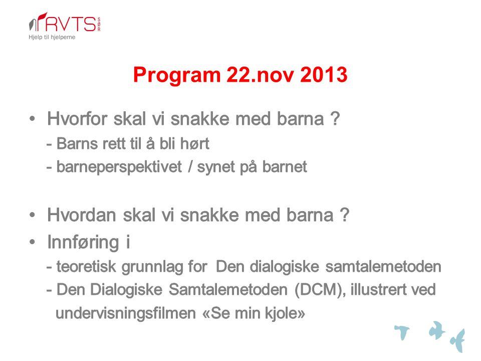 Program 22.nov 2013