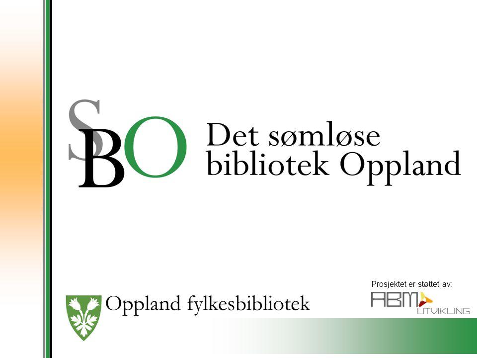 Hovedmål Det sømløse bibliotek – region Oppland innebærer at innbyggerne i Oppland skal oppleve et helhetlig bibliotektilbud på tvers av forvaltningsnivåer uavhengig av sektortilhørighet.