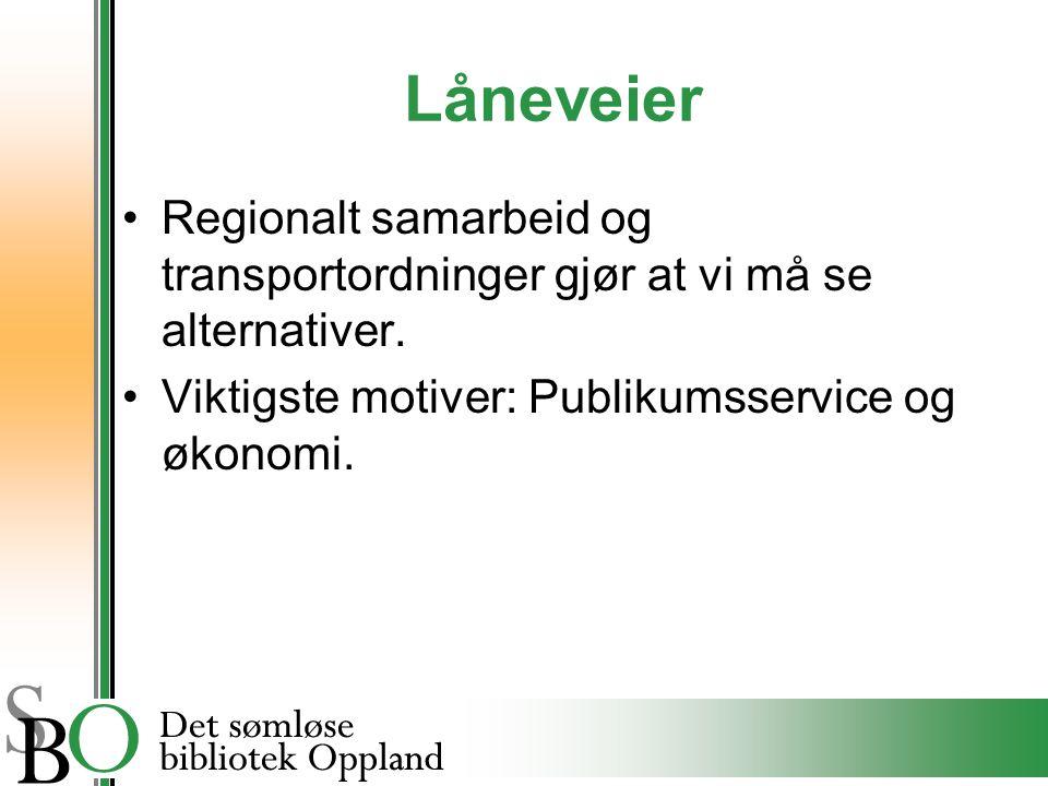 Låneveier Regionalt samarbeid og transportordninger gjør at vi må se alternativer.