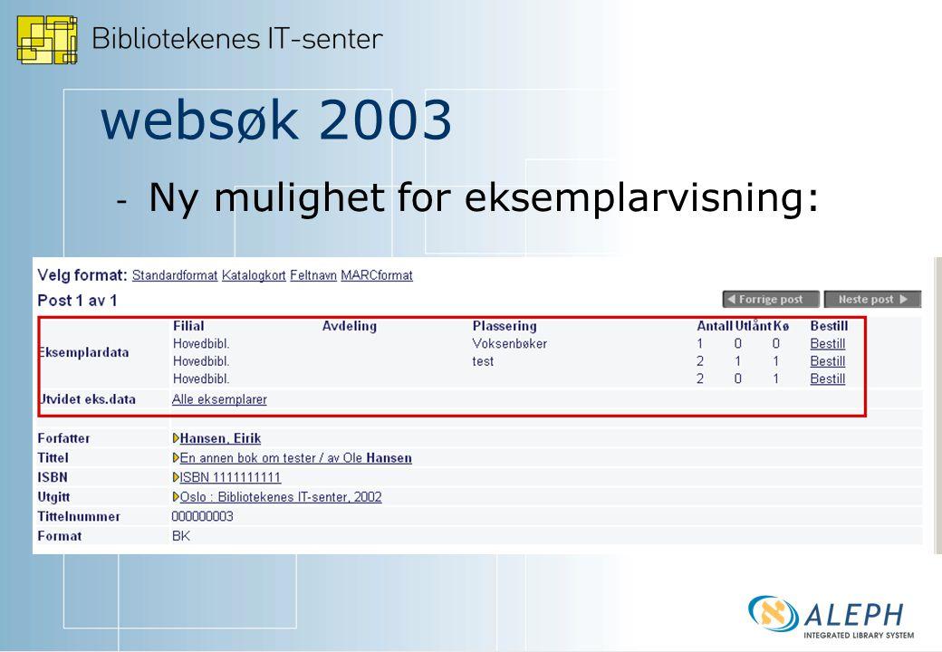 websøk 2003 - - BokSurf - - Opprett egne hierarkier for å presentere utvalgte emner eller materiale.