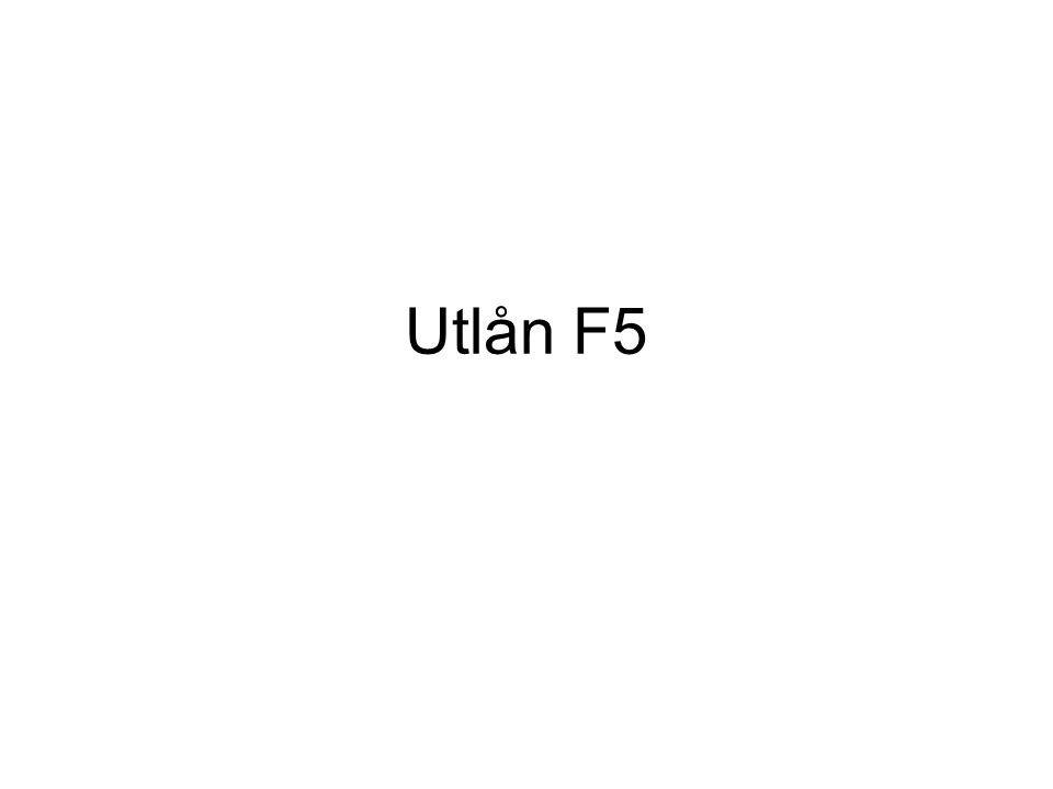 Utlån F5