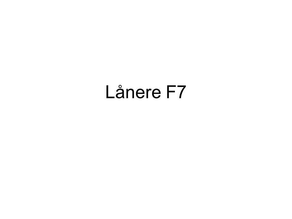 Lånere F7