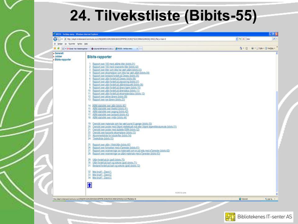 24. Tilvekstliste (Bibits-55)