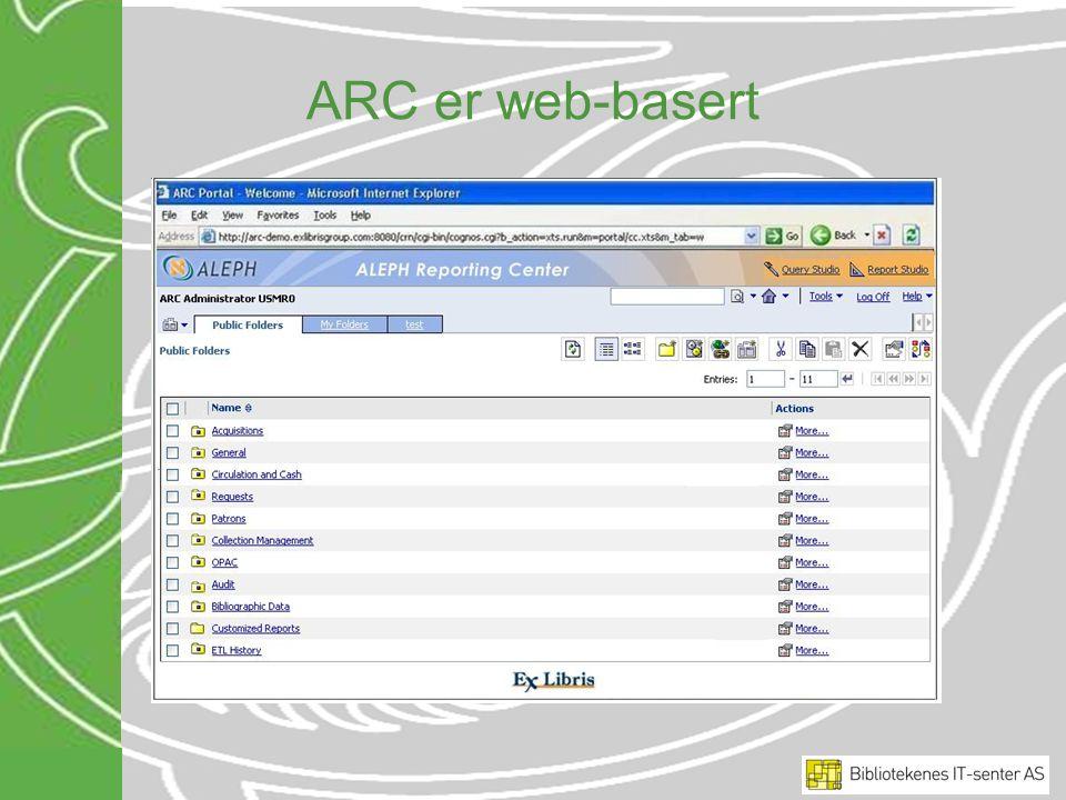 ARC er web-basert