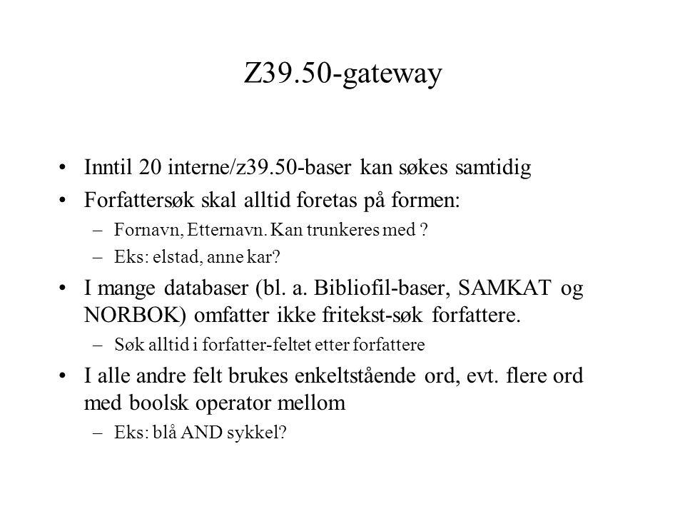 Z39.50 gateway ALEPH 14.2 støtter blaing i z39.50.