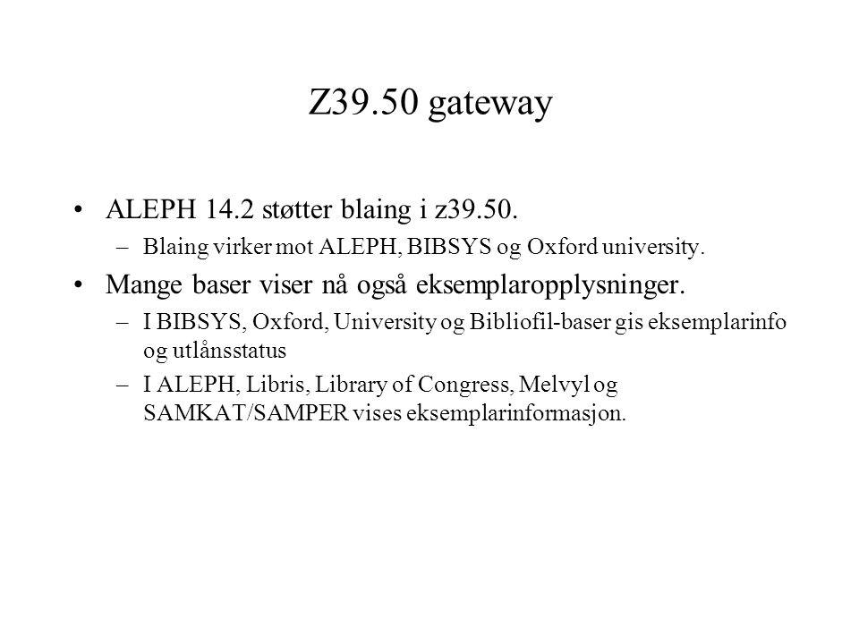 Z39-50 Blaing i indekser