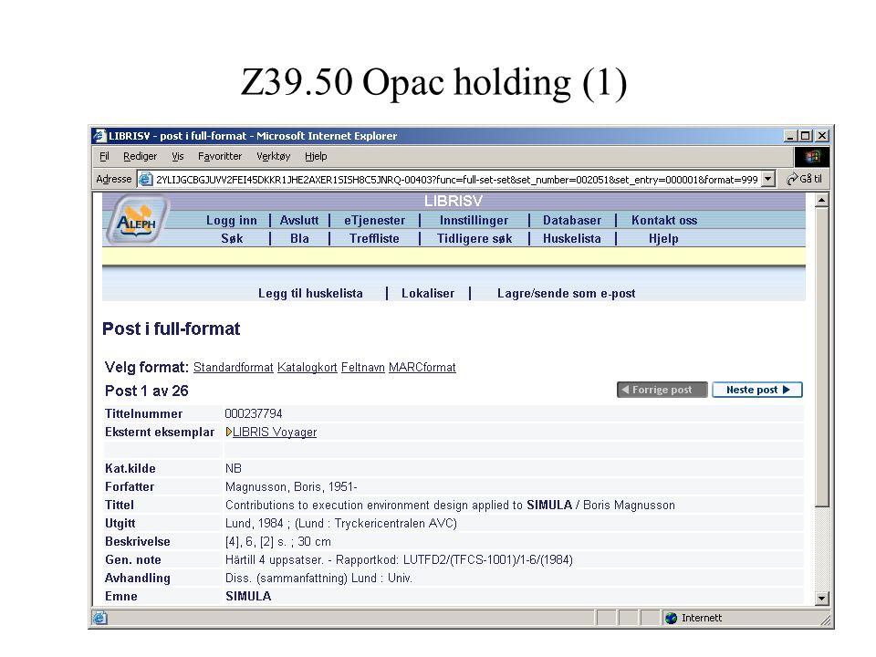 Z39.50 Opac holding (2)