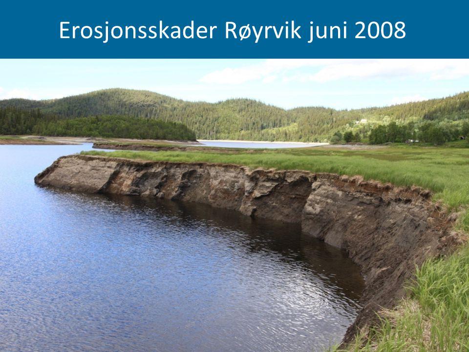 Erosjonsskader Røyrvik juni 2008