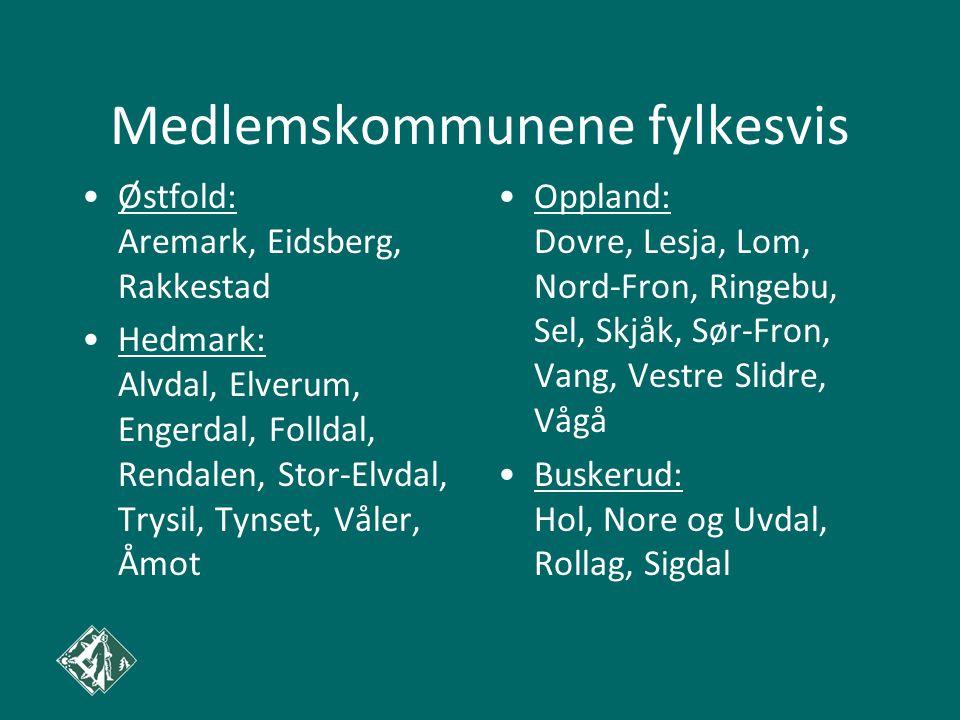 Medlemskommunene fylkesvis Østfold: Aremark, Eidsberg, Rakkestad Hedmark: Alvdal, Elverum, Engerdal, Folldal, Rendalen, Stor-Elvdal, Trysil, Tynset, V