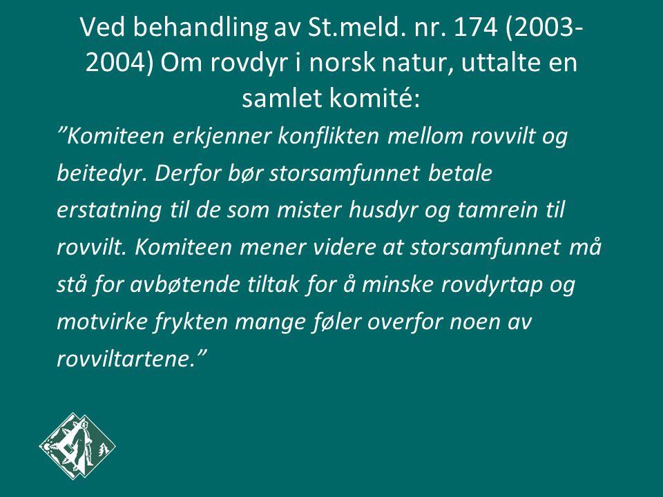 Ved behandling av St.meld. nr.
