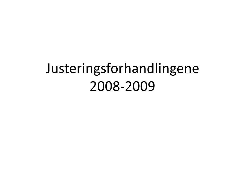 Justeringsforhandlingene 2008-2009