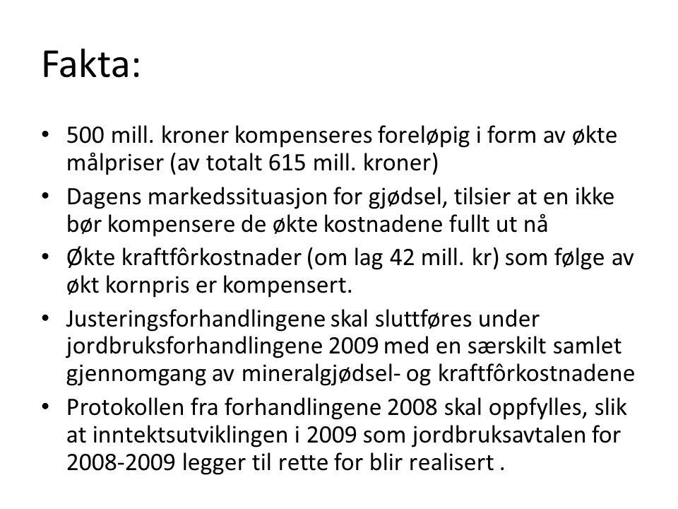 Målprisendringer KvantumMålprisEndring Mill kroner Mill.