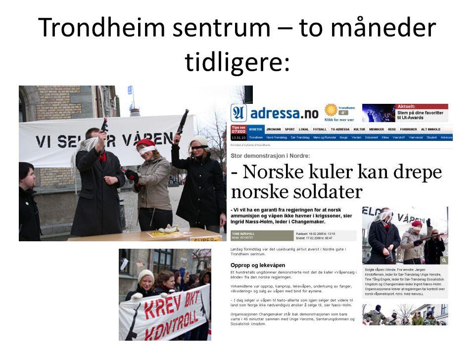 Trondheim sentrum – to måneder tidligere: