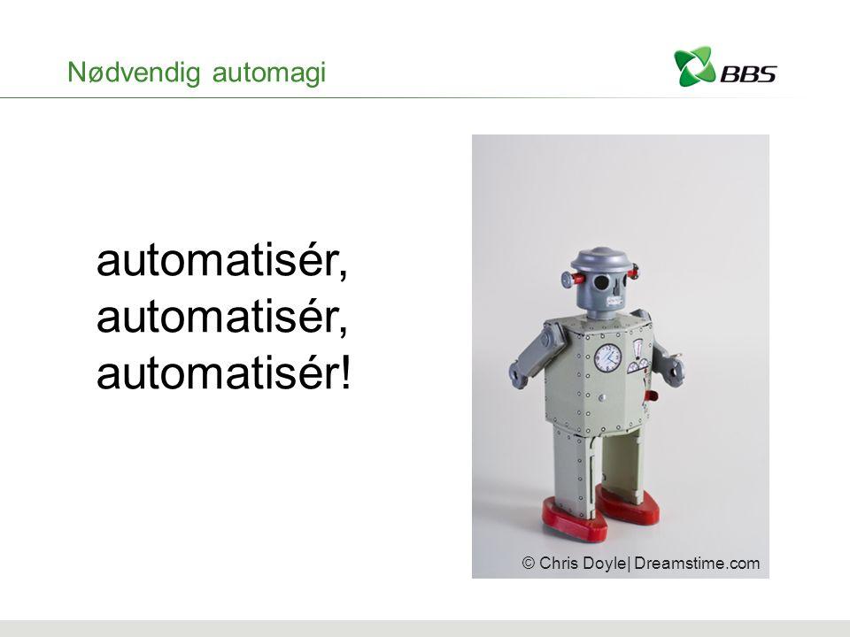 Nødvendig automagi automatisér, automatisér! © Chris Doyle| Dreamstime.com