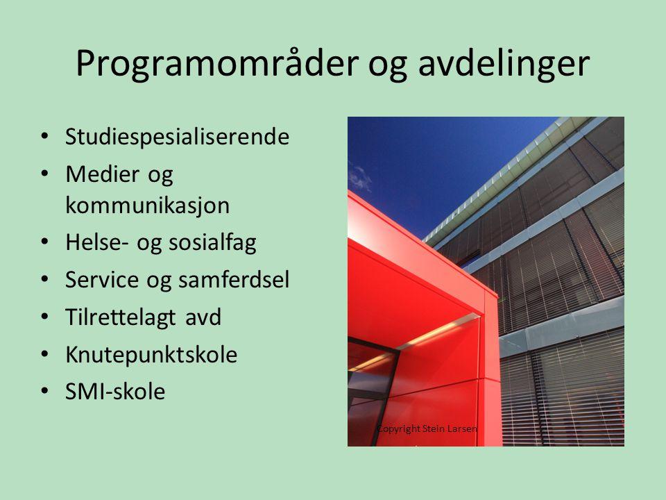 Hjemmeområder for hver avd Fleksible læringsareal Transparent skole