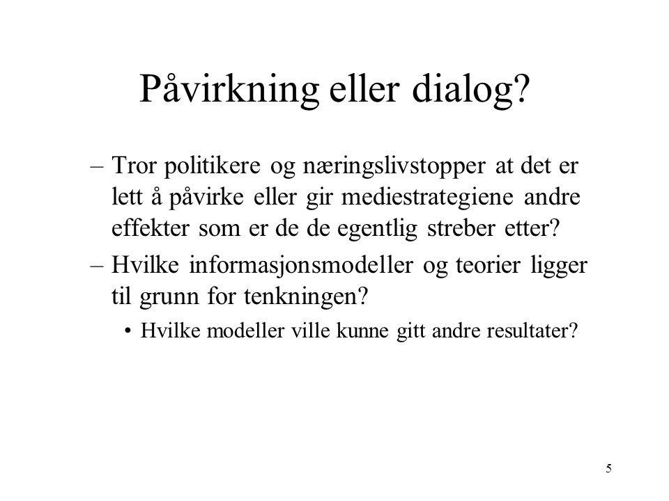 5 Påvirkning eller dialog.