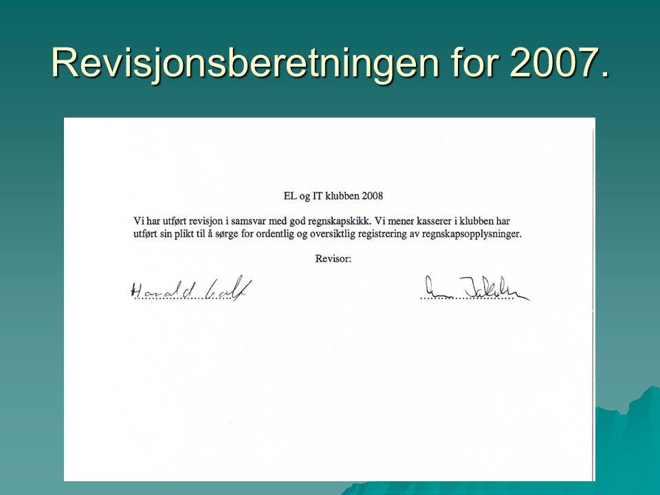 Revisjonsberetningen for 2007.