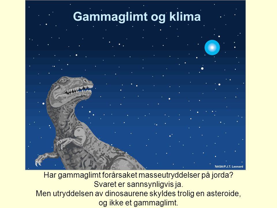 Har gammaglimt forårsaket masseutryddelser på jorda? Svaret er sannsynligvis ja. Men utryddelsen av dinosaurene skyldes trolig en asteroide, og ikke e