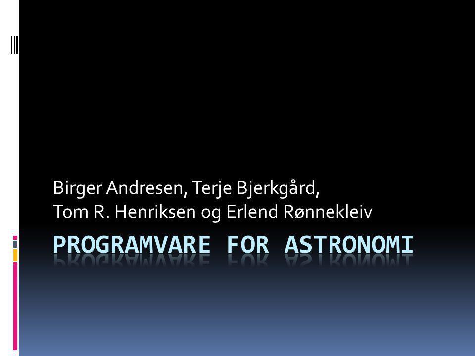 Birger Andresen, Terje Bjerkgård, Tom R. Henriksen og Erlend Rønnekleiv