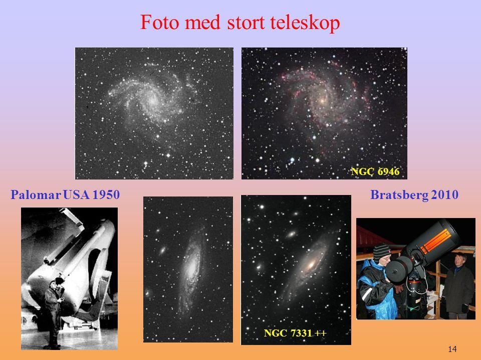 14 Palomar USA 1950 Bratsberg 2010 Foto med stort teleskop NGC 7331 ++ NGC 6946