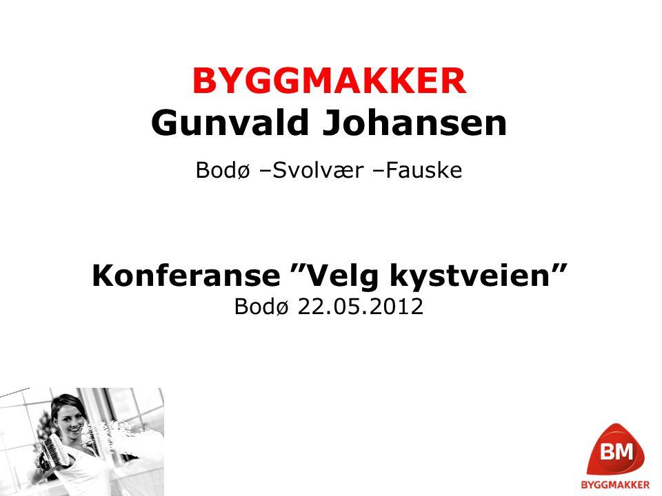 BYGGMAKKER Gunvald Johansen Etablert i 1963 Entreprenørselskapet Gunvald Johansen Bygg utfører alle typer byggoppdrag, fra de minste til de største totalentrepriser Medlem i byggevarekjeden Byggmakker.