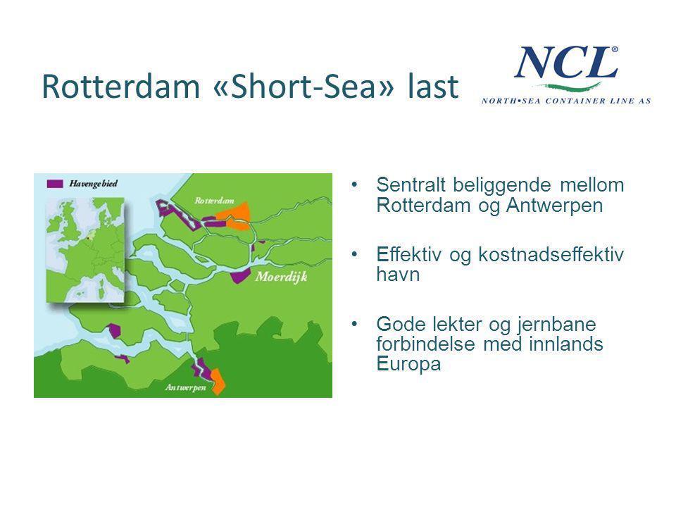 Rotterdam «Short-Sea» last Sentralt beliggende mellom Rotterdam og Antwerpen Effektiv og kostnadseffektiv havn Gode lekter og jernbane forbindelse med innlands Europa