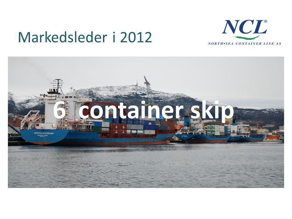 Markedsleder i 2012 6 container skip
