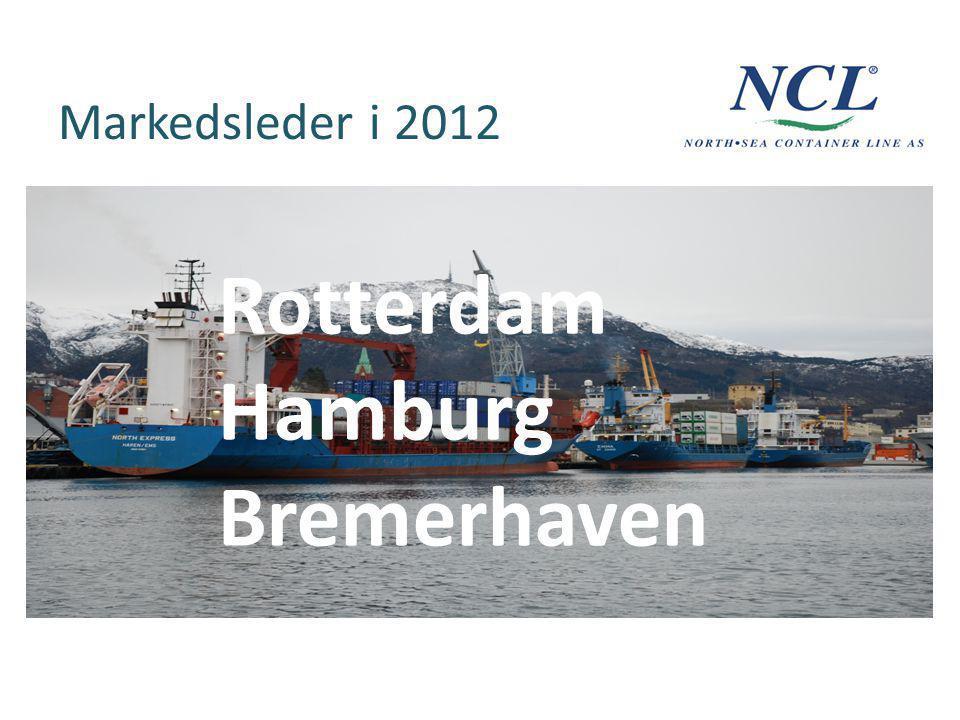 Markedsleder i 2012 Rotterdam Hamburg Bremerhaven