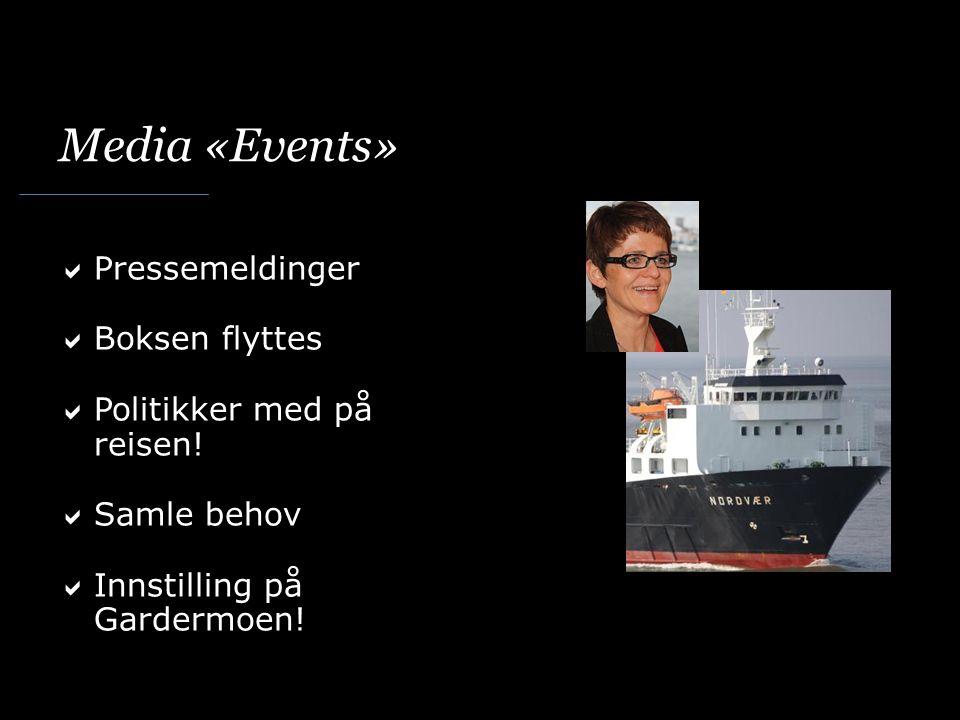 Media «Events»  Pressemeldinger  Boksen flyttes  Politikker med på reisen.