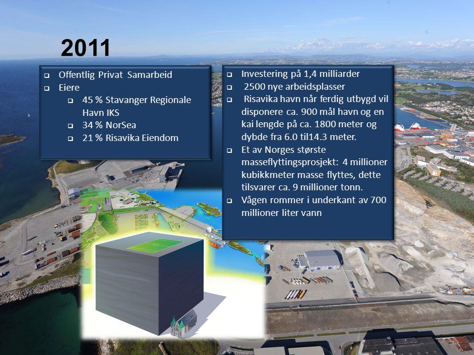 2004 2011  Investering på 1,4 milliarder  2500 nye arbeidsplasser  Risavika havn når ferdig utbygd vil disponere ca.