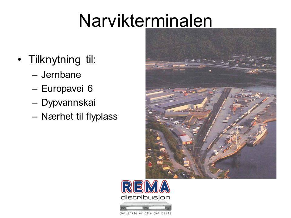 Budsjett og omsetning REMA Distribusjon Norge AS –Budsjett 2011kr 16.000.000.000 –Omsetning 2011kr 16.019.000.000 –Budsjett 2012kr 20.000.000.000 Distribunal Narvik: –Budsjett 2011kr 1.679.000.000 –Omsetning 2011kr 1.681.000.000 –Budsjett 2012 kr 2.088.000.000