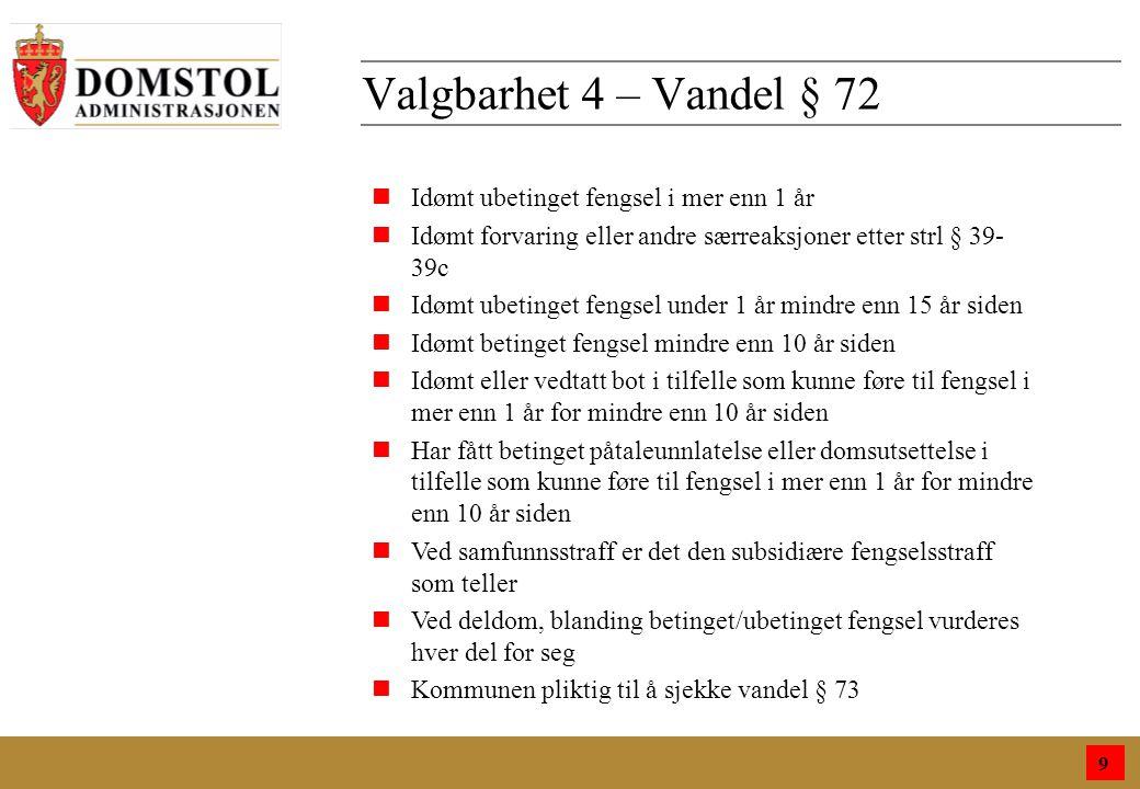 9 Funksjonstid 10 n§ 66 n4 år nValget i 2012 gjelder fra 1.