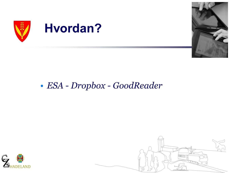 Hvordan ESA - Dropbox - GoodReader