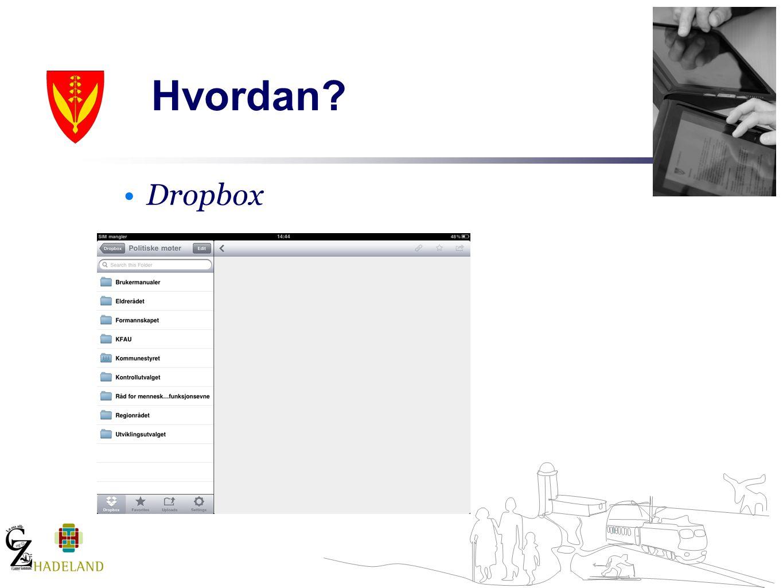 Hvordan? Dropbox