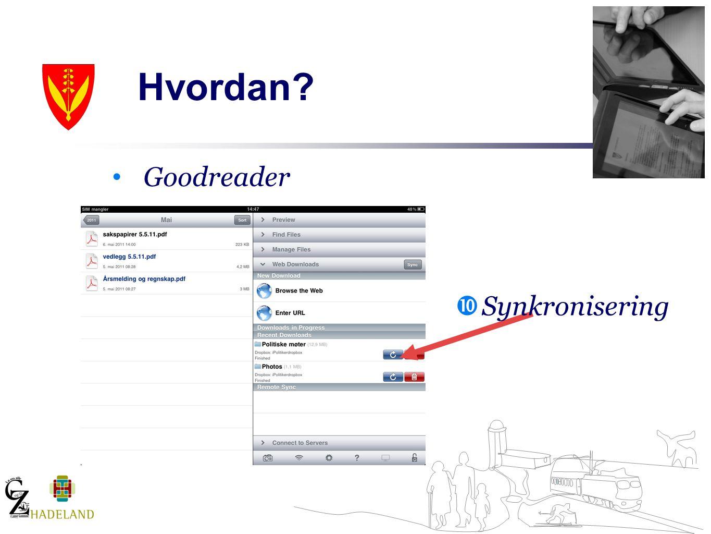 Goodreader  Synkronisering
