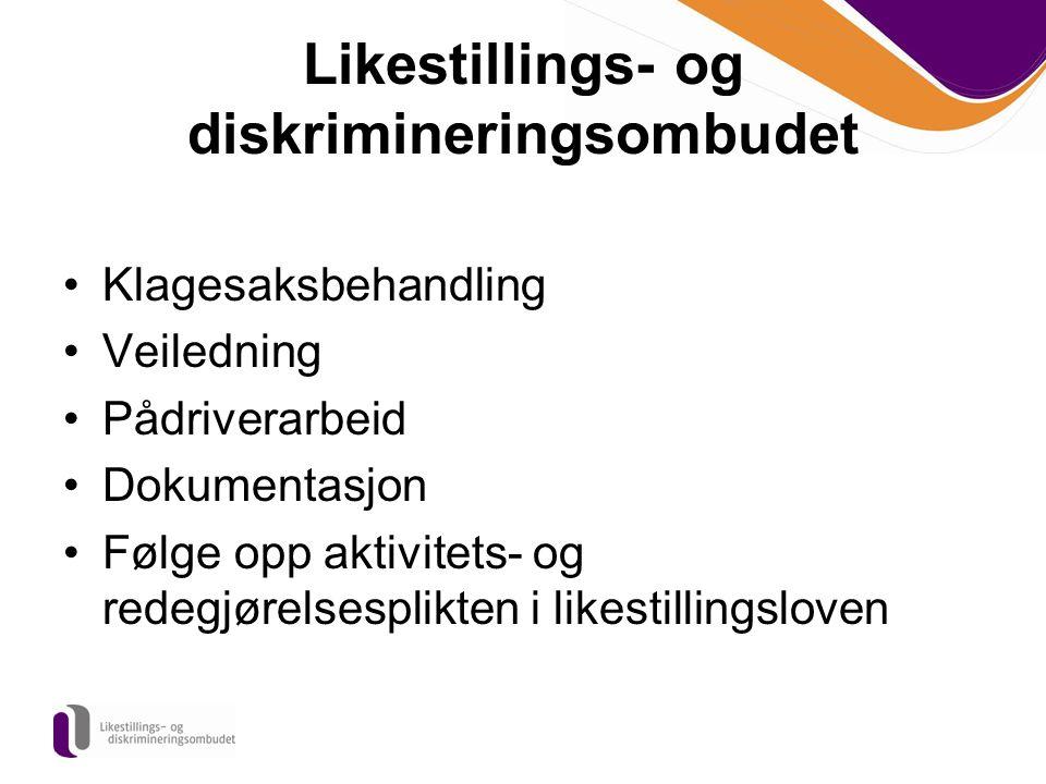 Kontaktinformasjon Likestillings- og diskrimineringsombudet Postboks 8048 Dep 0031 Oslo Besøksadresse: Grensen 5 i Oslo E-post: post@LDO.nopost@LDO.no www.LDO.no