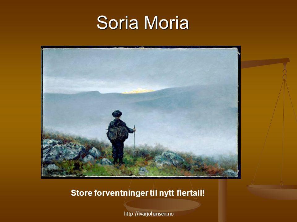Soria Moria Store forventninger til nytt flertall!